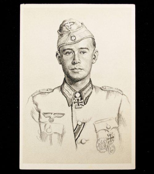 Postcard Willrich - Ritterkreuzträger des Heeres Werner Ziegler