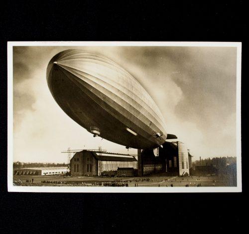 Postcard Zeppelin Aufstieg LZ129 Hindenburg