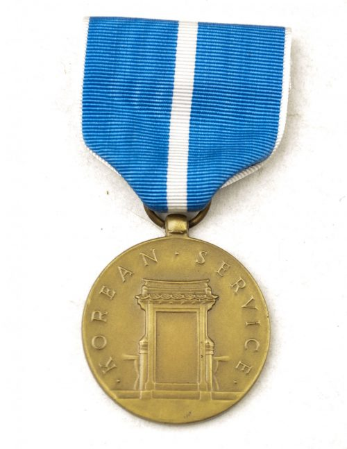 US Korean Service medal + ribbon + case