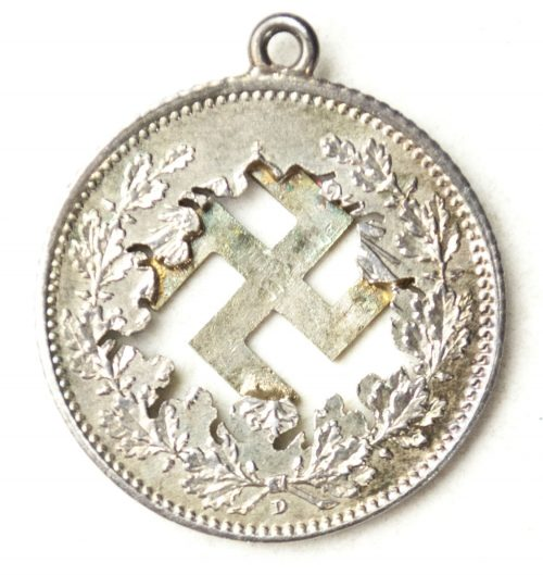 WWII Swastika hanger made of a 1918 coin