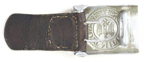 Wehrmacht (Heer) aluminium buckle + tab (maker OLC)