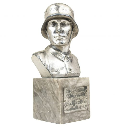 Wehrmacht (heer) Soldier bust on marble base (I.R.48) - 1937