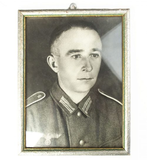 Wehrmacht portrait photo in period frame
