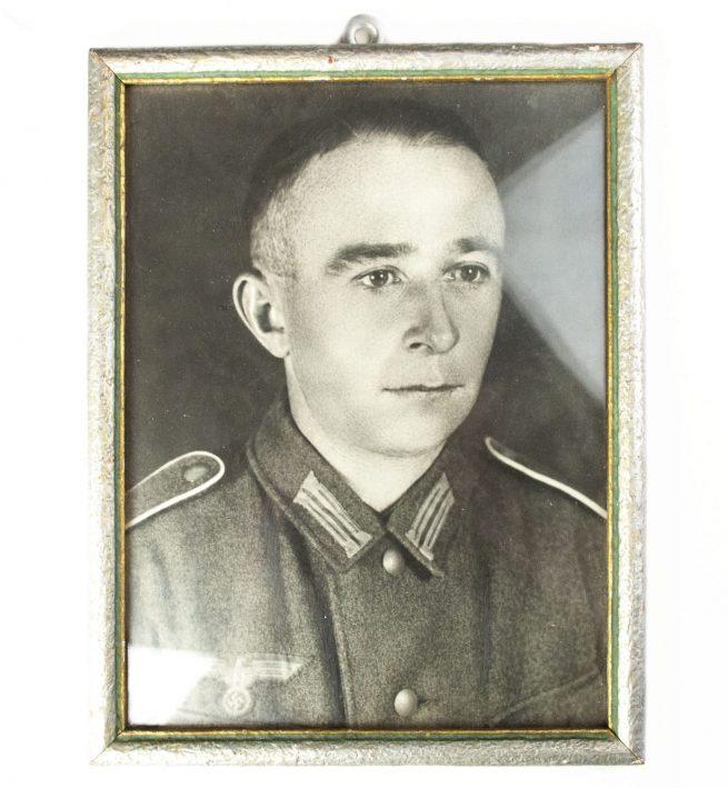 Wehrmacht portrait photo in period frame