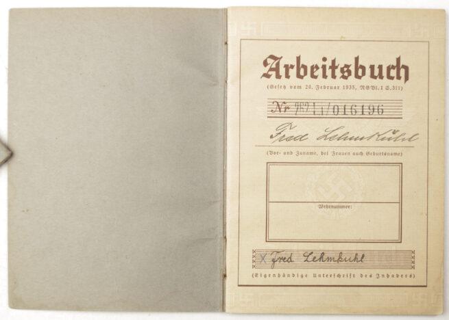 Arbeitsbuch Arbeitsamt Glauchau