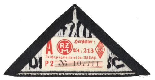Bund Deutsche Mädel (BDM) Hitlerjugend (HJ) Gebietsdreieck Ost Sudetenland with RZM label