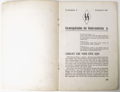 Dutch-SS – SS Vormingsbladen Jrg 1. No.6