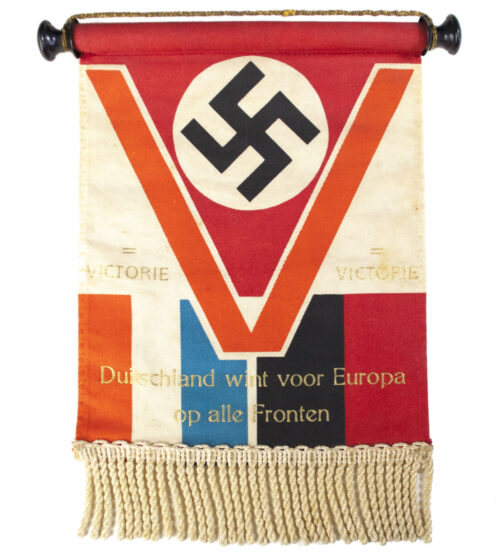 (NSB) Pennant Tableflag V = Victorie! Duitschland wint voor Europa op alle Fronten!