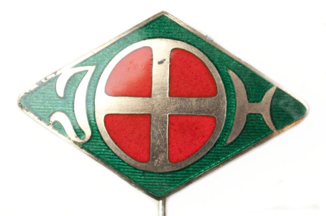 (Norway) Gjentehird enameled badgebrooch