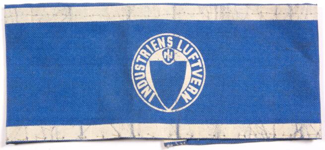 (Norway) Industriens Luftvern armband 1940-1945 (air raid protection - Blue) -