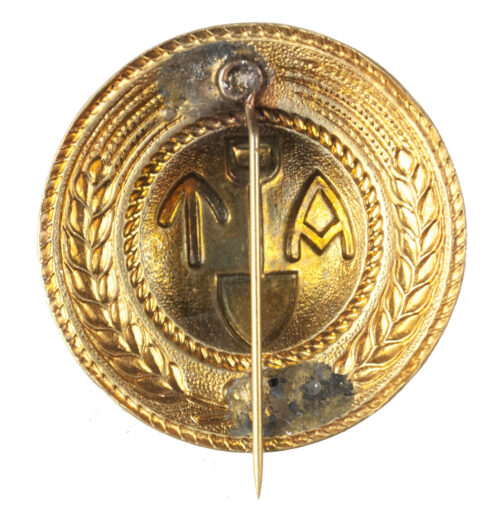 (Norwegen) Arbeidstjenesten (AT) Female brooch goldgilt