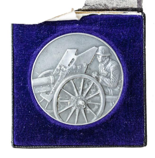 Pack Geschütz Preisschiessen 1935 medal in silver (2. Preis)