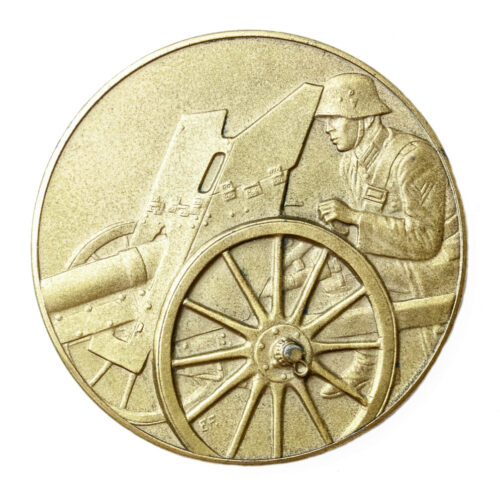 Pack Geschütz Preisschiessen 1936 medal in gold (1. Preis)