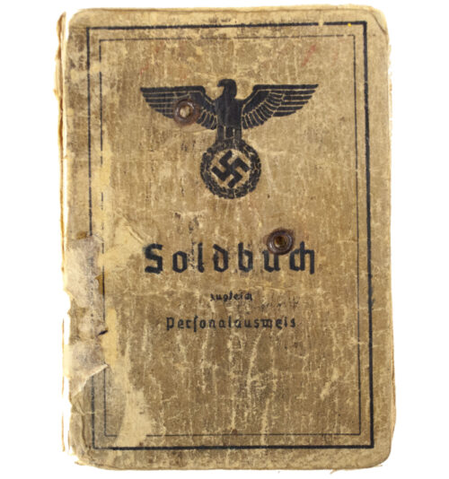 Soldbuch Heer Infanterie Ersatz Regiment 227 (with woundbadge in black and silver entries)