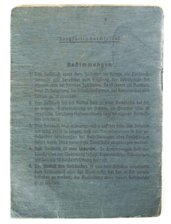 Soldbuch Luftwaffe Flak Scheinwerfer Ersatz Abteiling 5.