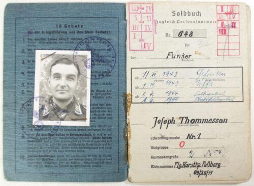 Soldbuch Luftwaffe Flg.Horst.Kp.Fassberg Flak