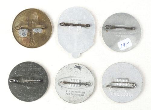 Tag der Arbeit complete series of 6 badges (1934-1939)