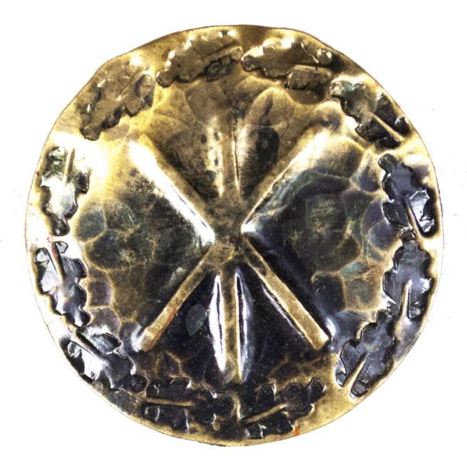 WWII German runic brooch Hagal rune