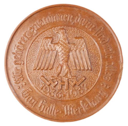 Winterhilfswerk WHW Gau Halle Merseburg 1936-1937 abzeichen
