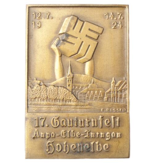 17. Gauturnfest Anpa-Elbe-Turngau Hohenelbe 1924