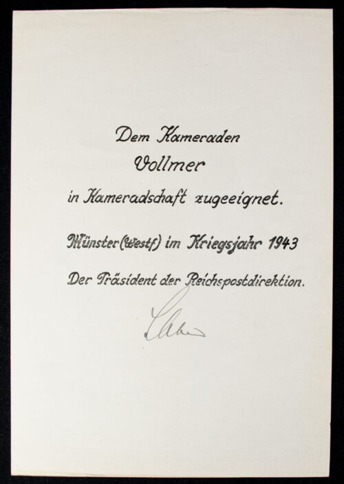 Adolf Hitler plaque + Citation from Münster