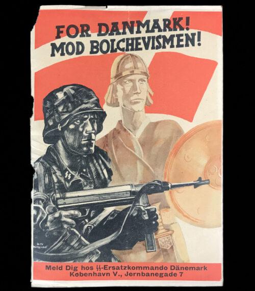 (Denmark) For Danmark! Mod Bolchevismen! SS-Ersatzkommando Dänemark propaganda flyer