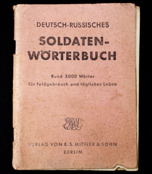 Deutsch-Russisches Soldaten Wörterbuch