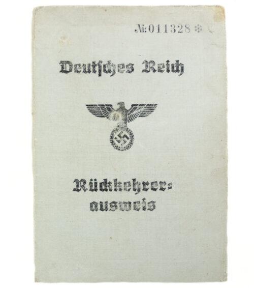 Deutsches Reich Rückkehrer ausweis with passphoto
