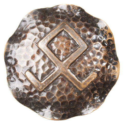 Dutch WWII female cultural brooch with Odal-rune (large!)