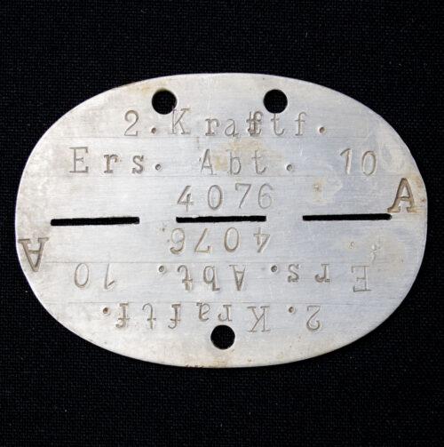 Erkennungsmarke (EKM) 2. Kraftfahrer Ersatzabteilung 10. 4076A