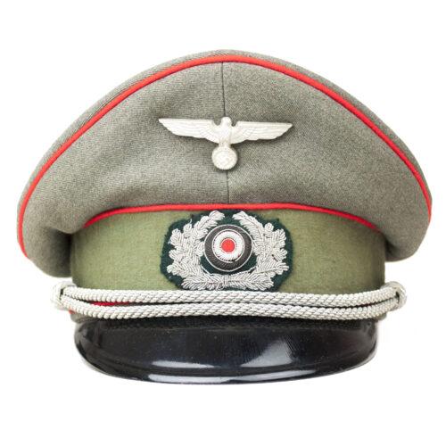 German Artillery NCO visor cap Artillerie Offizier Schirmmütze