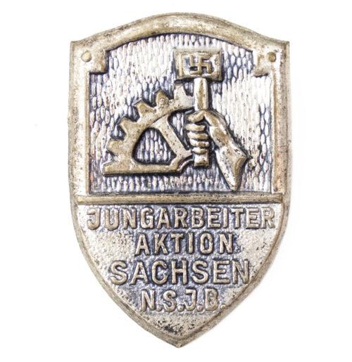 N.S.B.O N.S.J.B Jungarbeiter Aktion Sachsen abzeichen