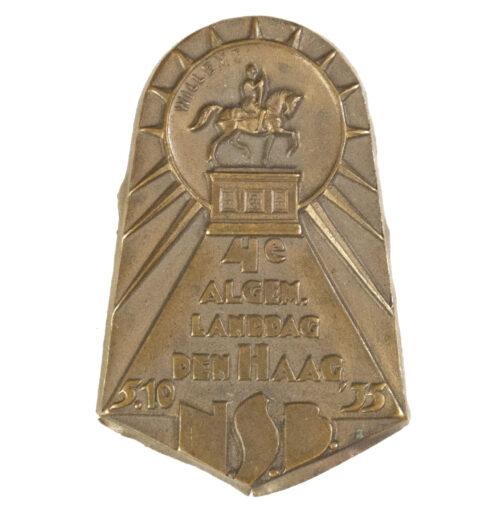 (NSB) 4e Algemene Landdag Den Haag 5.10.35 badge