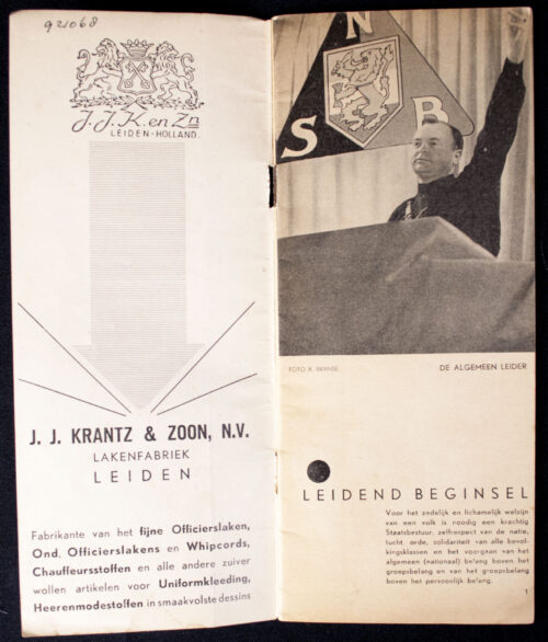 (NSB) 4e Landdag 5 October 1935 brochure (rare!)
