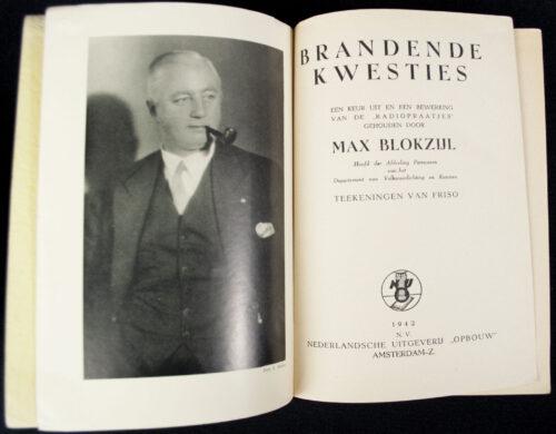(NSB) Max Blokzijl - Brandende Kwesties (1942)