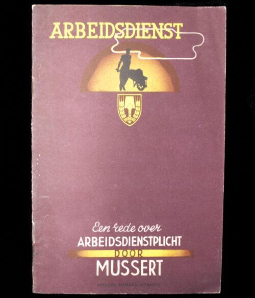 (NSB) Nederlandsche Arbeidsdienst (NAD) Mussert - Een rede over Arbeidsdienstplicht