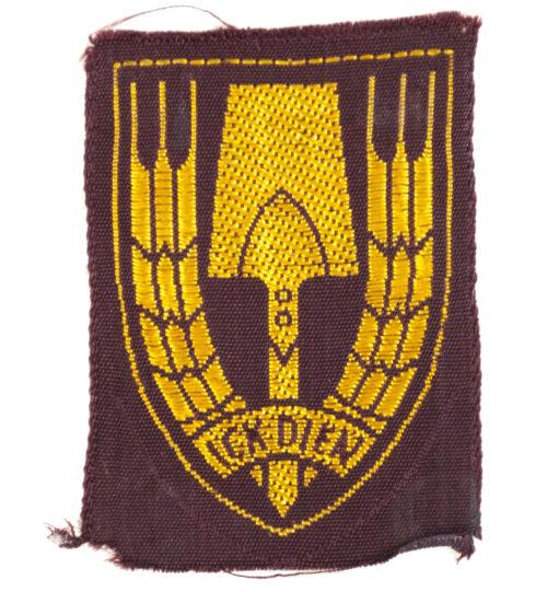 (NSB) Nederlandsche Arbeidsdienst (NAD visor cap badge