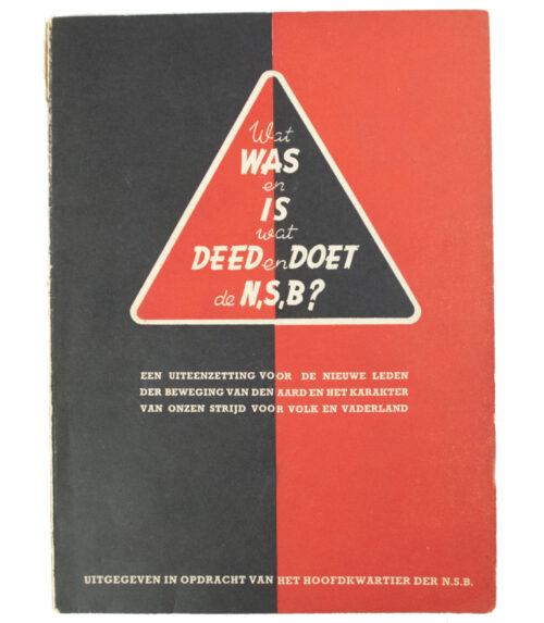 (NSB) Wat was en is, wat deed en doet de NSB (1940)
