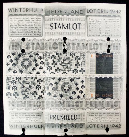 (NSB) Winterhulp Nederland (WHN) Loterij 1942