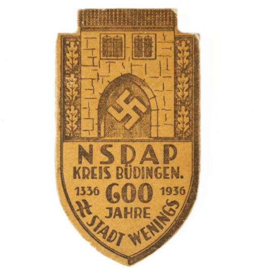 NSDAP Kreis Büdingen 600 Jahre Stadt Wenings 1936