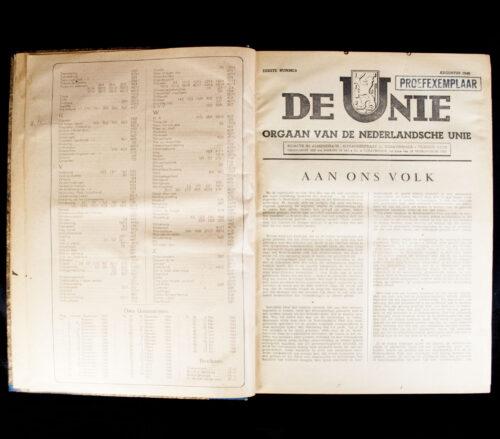 (Newspapers) De Nederlandsche Unie 2 complete Annuals bound in one book!