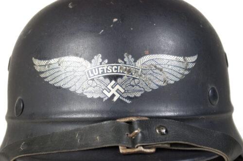 Reichsluftschutzbund (RLB) M40 Beaded Luftschutz Helmet