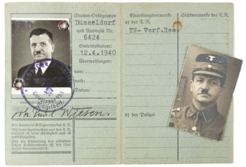 Technische Nothilfe (TN) ausweis with passphoto (Düsseldorf)