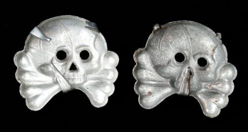 Two German Panzer Insignia Skulls