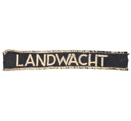 WWII Dutch Landwacht cufftitle