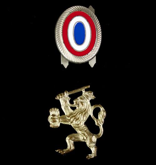 WWII Dutch police visor cap Cockarde + Lion (1942)