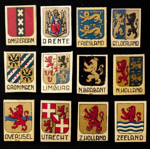 Winterhulp Nederland (WHN) - Provinciewapens complete series (1941)