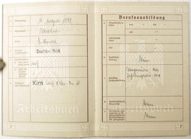 Arbeitsbuch Arbeitamt Kreuznach (1936)