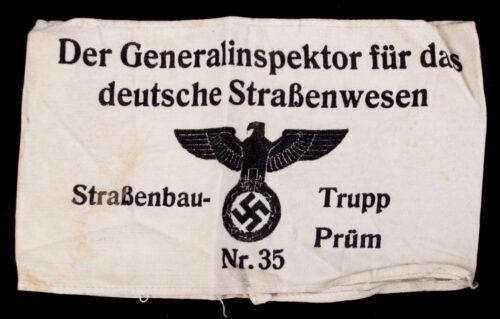 Armband Der Generalinspektor für das deutsche Strassenwesen Strassenbau Trupp Prüm Nr.35