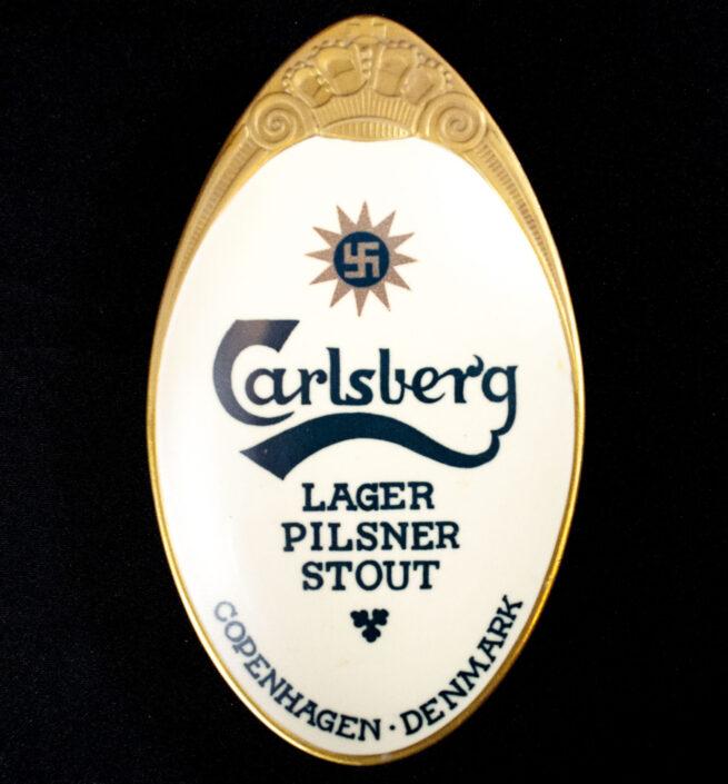 (Denmark) Carlsberg Beer Ashtray with swastika (1920's30's) RARE!